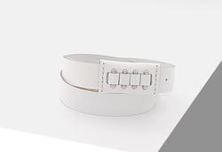 Rino - 3 cm Kadın Hakiki Deri Spor Kemer Beyaz
