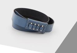 Rino - 3 cm Kadın Hakiki Deri Spor Kemer Kobalt Mavi