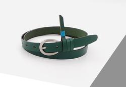 Rino - 2 cm Kadın Hakiki Deri Spor Kemer Yeşil