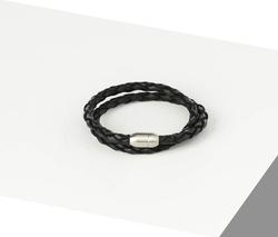 Rino - Unisex Hakiki Deri Bileklik Siyah