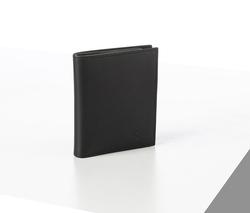 Rino - Unisex Hakiki Deri Cüzdan Siyah-İçi Yeşil