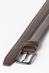 3.5 cm Erkek Hakiki Deri Klasik Kemer Kahverengi - Thumbnail