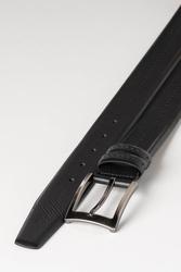 3.5 cm Erkek Hakiki Deri Klasik Kemer Siyah - Thumbnail