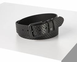 Rino - 4 cm Unisex Hakiki Deri Spor Kemer Siyah