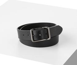 4 cm Unisex Hakiki Deri Spor Kemer Siyah - Thumbnail