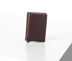 Rino - Unisex Hakiki Deri Kartlık Bordo