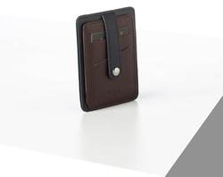 Rino - Unisex Hakiki Deri Kartlık Lacivert-İçi Bordo