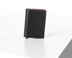Rino - Unisex Hakiki Deri Kartlık Siyah